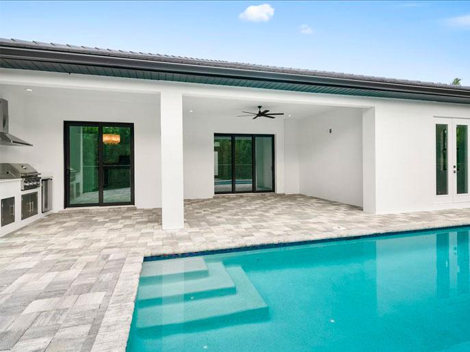 230 Legacy CT Naples FL Backyard | Aleman Builders Naples Florida
