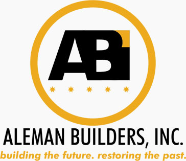 Aleman Builders Logo Grey Background | Naples, FL Builders